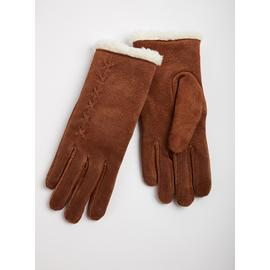 TOTES ISOTONER Tan Luxury Suede Gloves