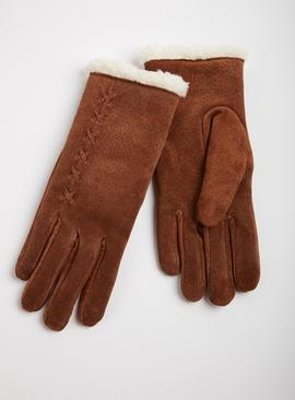 Isotoner Tan Luxury Suede Gloves