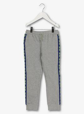Grey 'Good Vibes' Side Taping Joggers