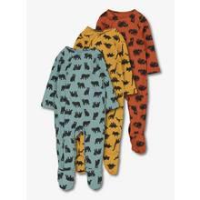 Multicoloured Dinosaur & Animal Sleepsuit 3 Pack