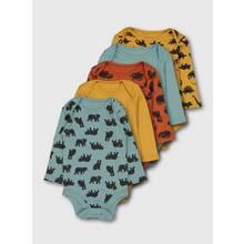 Multicoloured Dinosaur & Animal Bodysuit 5 Pack