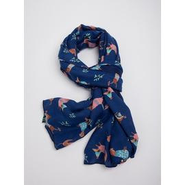 Christmas Navy Sausage Dog Printed Scarf - One Size