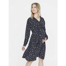 Black Dotted Maternity Dress