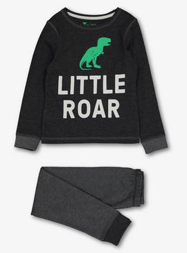 Mini Me Grey 'Little' Roar Dino Pyjamas