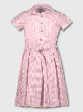 Navy Blue Classic Gingham School Dress