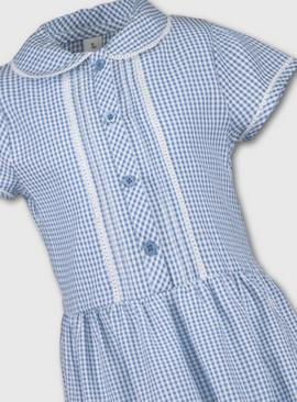 Red Tiered Gingham School Dress