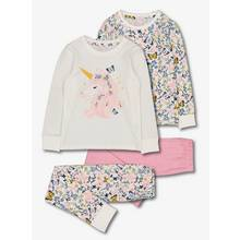 Pink Unicorn Floral Snuggle Fit Pyjamas 2 Pack