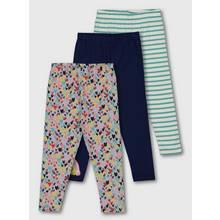 Multicoloured Playdays Heart & Stripe Legging 3 Pack