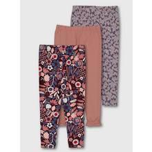 Pink Floral Leggings 3 Pack