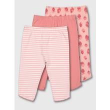 Pink Stripe, Strawberry & Plain Leggings 3 Pack