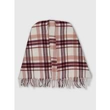Multicoloured Check Blanket Cape - One Size