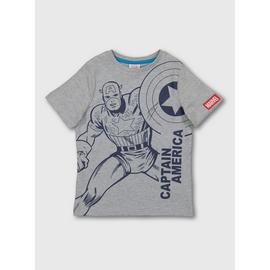 Marvel Avengers Grey Captain America T-Shirt