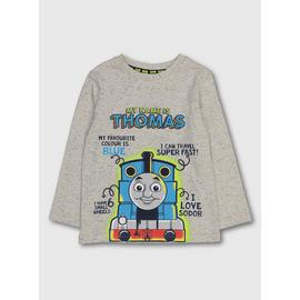 Thomas The Tank Grey Long Sleeve T-Shirt
