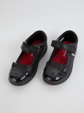 TOEZONE Black Cat School Shoes