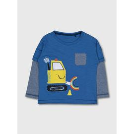 Blue Playdays Digger Overlay Top