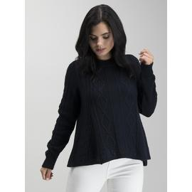 PETITE Oatmeal Swing Cable Jumper