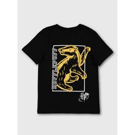 Harry Potter Black Hufflepuff T-Shirt