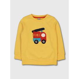 Yellow Fire Engine Sweatshirt