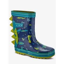 Navy & Green Crocodile Wellies