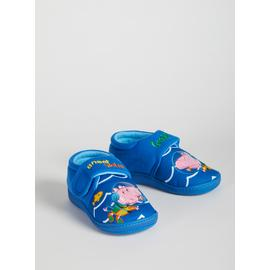 Peppa Pig George Blue Embroidered Slippers