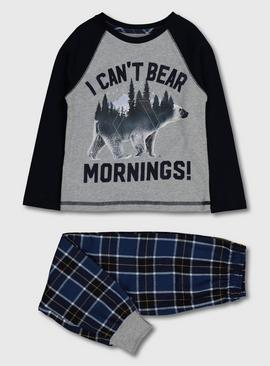 Navy & Grey Polar Bear Pyjamas
