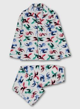 Multicoloured Dragon Print Woven Pyjamas