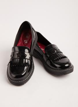 Black Patent Chunky School Loafers