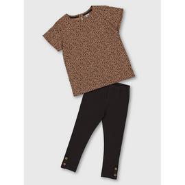 Leopard Print Top & Leggings Set