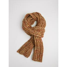 Rust Space Dye Knit Scarf - One Size