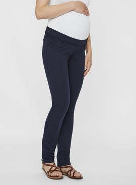Navy Maternity Trousers