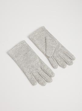 Grey Snowflake Snit Gloves - One Size
