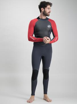 Premium Grey & Red Fusion 3/2 Long Leg Wetsuit