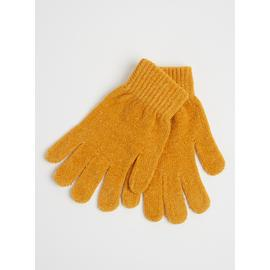 Ochre Yellow Chenille Gloves - One Size