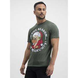 Christmas Disney Khaki Green Grumpy T-Shirt