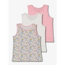 Pink & White & Floral Vest 3 Pack