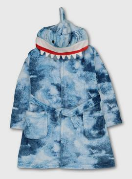 Blue Shark Dressing Gown