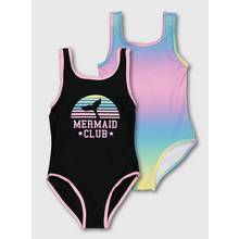 Multicoloured Mermaid Club Costumes 2 Pack