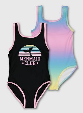 Multicoloured Mermaid Club Costumes 2 Pack