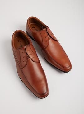 Sole Comfort Tan Leather Lace Up Formal Shoes