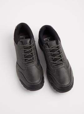 Sole Comfort Black Mesh Lace Up Trainers