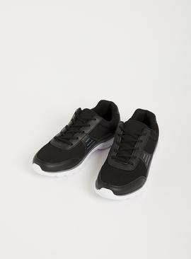 Black Mesh Panel Active Trainers