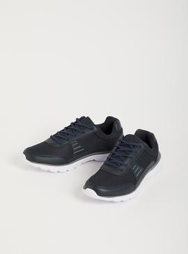 Navy Active Lace Up Trainers