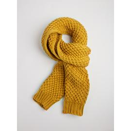 Ochre Yellow Super Soft Knitted Scarf - One Size