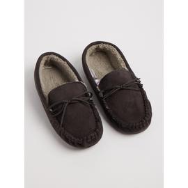 THINSULATE Grey Lace Up Moccasin Slippers