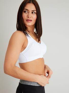 Active White Non Wired High Impact Sports Bra