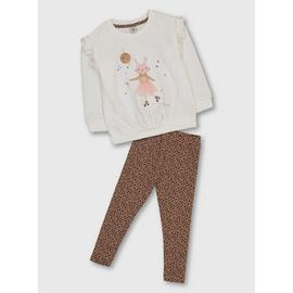 Cream Bunny Sweatshirt & Leggings