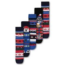 Christmas Multicoloured Fair Isle Sock 5 Pack