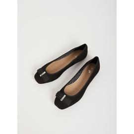 Black Ballet Pump With Bow