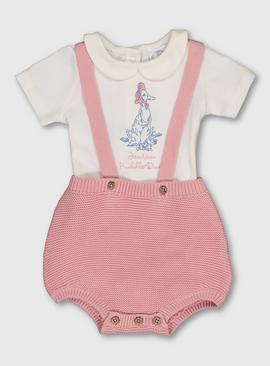 Peter Rabbit Pink Jemima Puddle-Duck Bodysuit Set