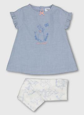 Peter Rabbit Blue Top & Leggings Set